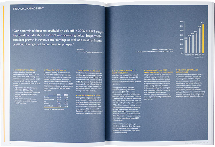 Finning International - annual report (interior)