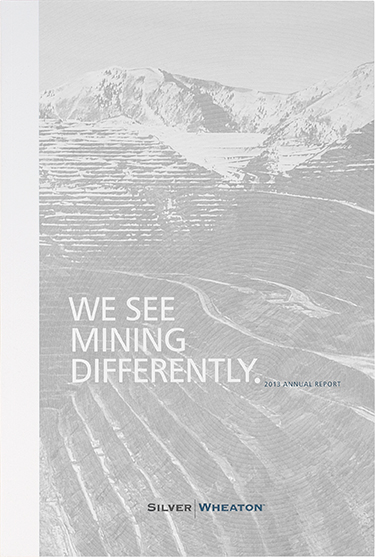 Silver Wheaton - annual report (cover)