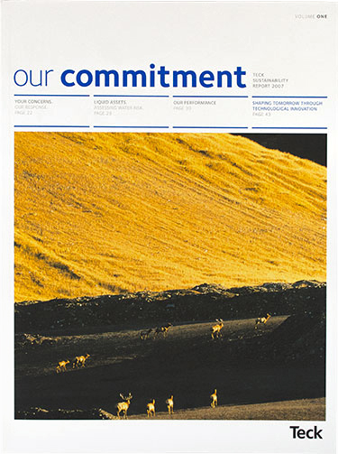 Teck - sustainability report (cover)